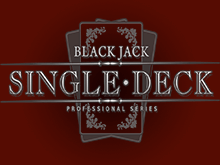 Single Deck Blackjack Professional Series автомат на рубли от NetEnt
